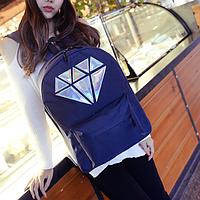 Женский школьный рюкзак с кристаллом, фото 1