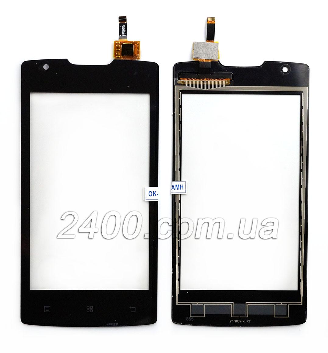Тачскрин (сенсор) для телефона Lenovo A1000 черный