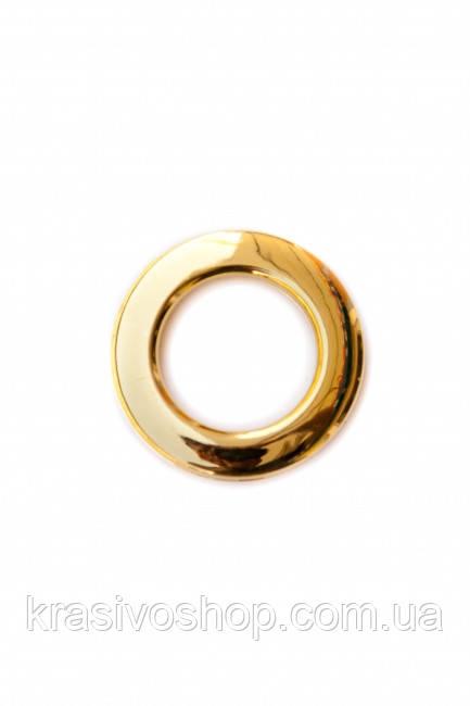Люверс золото глянец, внутренний диаметр 3,5см ,  шт