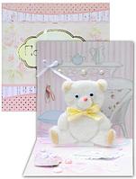 Листівка-іграшка дитяча Ведмедик