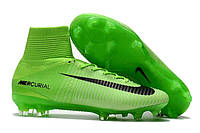 Детские футбольные бутсы Nike Mercurial Superfly V FG Electric Green/Black/Ghost Green