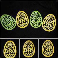 Яйцо желтого цвета из фетра - декор к Пасхе, 12 см., 10 гр.