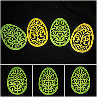 Яйцо зеленого цвета из фетра - декор к Пасхе, 12 см., 10 гр.