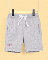 Шорты серого цвета с карманами для мальчика