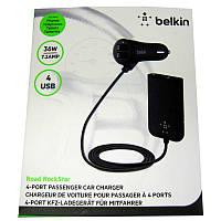 Автомобильное зарядное устройство   BELKIN  4-USB порта(7,2А)черное