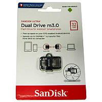 Флешка  32Gb SanDisk Ultra Dual;OTG, USB 3.0
