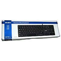 Клавиатура   Sven Elegance 5600 black;USB+HUB; slim