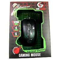 Игровая мышка Gembird MUSG-003-G, зеленая, USB