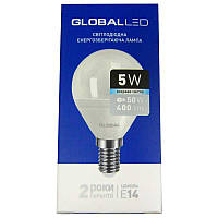 Лампочка  светодиодная Global led 144-GBL  G45 F  5W  E14  4100K шар