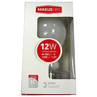Лампочка  светодиодная Maxus led 563-01  A65  12W  E27  3000K
