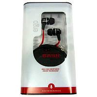 Гарнитура для телефона ERGO ES-200i black +box