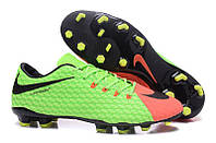 Футбольные бутсы Nike HyperVenom Phelon III FG Electric Green/Black/Hyper Orange, фото 1