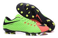 Футбольные бутсы Nike HyperVenom Phelon III FG Electric Green/Black/Hyper Orange, фото 1