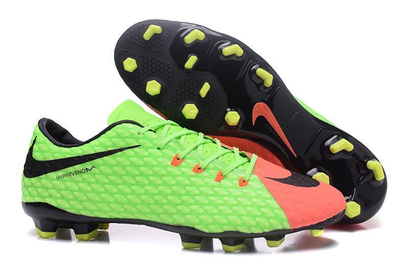 Футбольные бутсы Nike HyperVenom Phelon III FG Electric Green Black Hyper  Orange - Интернет 02555276ebb