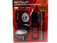 Набор антивозрастных кремов для лица Loreal Revitalift Laser Renew Programme