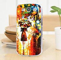 Оригинальный чехол накладка для Samsung Galaxy Core i8260 i8262 с картинкой Под зонтом