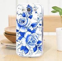 Оригинальный чехол накладка для Samsung Galaxy Core i8260 i8262 с картинкой Синие розы