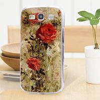 Оригинальный чехол накладка для Samsung Galaxy Core i8260 i8262 с картинкой Красные розы