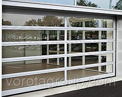 Панорамні секційні ворота DoorHan ISD02 2,8 м*2м