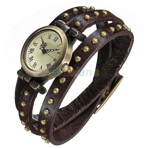 Винтажные часы браслет JQ retro brown