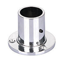 Фланец для трубы для бара D=25 хром (сталь) высокий