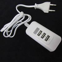 Cетевое зарядное устройство удлинитель на 3 USB порта