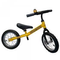 Беговел Oscar модель Raceway 12 дюймов (1шт) колеса резина (желтый)