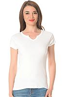 Белая футболка женская летняя для фитнеса с коротким рукавом без рисунка хлопок трикотажная (Украина)
