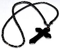 Бусы, гематит, крест большой 5_7_31