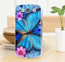 Силиконовый бампер для Samsung Galaxy Core i8260 i8262 с картинкой Бабочка