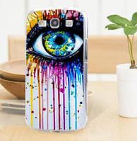 Силиконовый бампер для Samsung Galaxy Core i8260 i8262 с картинкой Глаз