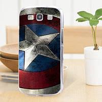 Силиконовый бампер для Samsung Galaxy Core i8260 i8262 с картинкой Капитан Америка