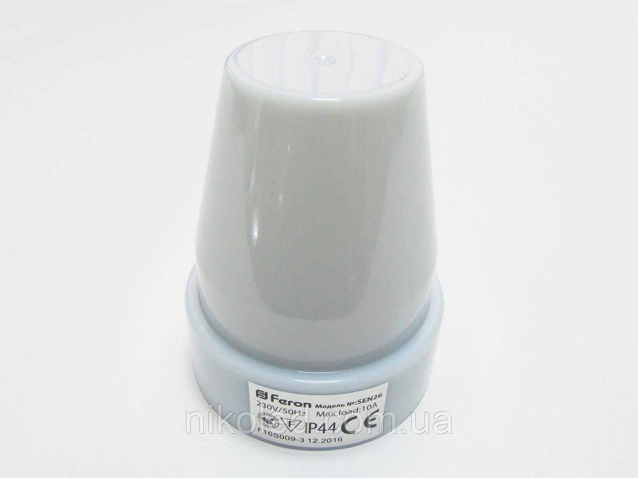 Сумеречное датчик/реле DELUX_ST302 10А 2-100Лк белый