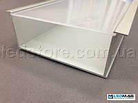 Профиль для светодиодной ленты врезной PML-400 (с крышкой) алюминиевый 112(100)x50 мм