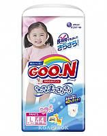 Трусики-подгузники GOO.N для девочек 9-14 кг (размер L, 44 шт)