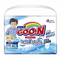 Трусики-подгузники GOO.N для мальчиков 13-25 кг размер BigBig (XXL), 28 шт Трусики-подгузники GOO.N для мальчиков