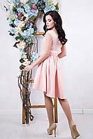 Платье с ассиметричным кроем юбки