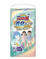 Трусики-подгузники GOO.N серии AROMAGIC для детей весом 12-20 кг (размер Big (XL), унисекс, 36шт.)