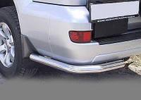 Защита заднего бампера Тойота Прадо 120, одинарные углы