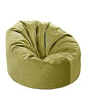 Зеленое большое кресло мешок из кож зама Зевс