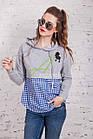 Женская кофта-блузка хулиганка весна 2018 - Артикул кф-53б, фото 4