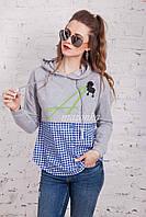 Женская кофта-блузка хулиганка весна 2018 - Артикул кф-53, фото 1