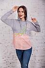 Женская кофта-блузка хулиганка весна 2018 - Артикул кф-53б, фото 2