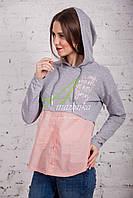 Женская кофта-блузка хулиганка весна 2018 - Артикул кф-53б, фото 1