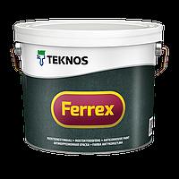 Матовая антикоррозионная грунтовка-краска для металла Teknos Ferrex 10 л