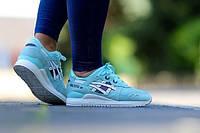 Кроссовки женские Asics Gel Lyte III Snowflake (асикс, асиксы, оригинал), кроссовки асикс голубые