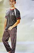 Домашний трикотажный костюм мужской футболка+штаны (пижама)