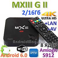 MXIII G II Amlogic S912 8 ядер 2/16Gb Android 6.0 IPTV Box