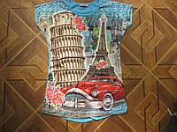 Детская футболка  3-Д  для девочки 7-13 лет Турция