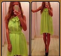 Шифоновое платье  бантик
